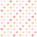Low-poly polygonal background. Valentine's Day. Stock Photos
