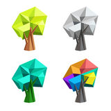Low poly polygonal tree. Abstract vector Illustration. Logo design. Stock Image