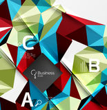Low poly polygonal triangle abstract background. For abc infographics Stock Photo
