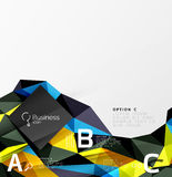 Low poly polygonal triangle abstract background. For abc infographics Royalty Free Stock Image