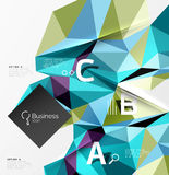 Low poly polygonal triangle abstract background. For abc infographics Stock Images