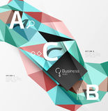 Low poly polygonal triangle abstract background. For abc infographics Stock Image