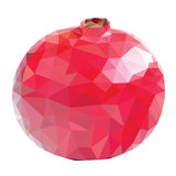 Low poly pomegranate Stock Image