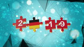 Low Poly for Puzzle to Germany Flag for New Years 2019. Low Poly for Puzzle to The Country Flag for New Years 2019 vector illustration