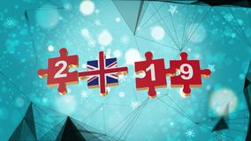 Low Poly for Puzzle to British Flag for New Years 2019. Low Poly for Puzzle to The Country Flag for New Years 2019 vector illustration