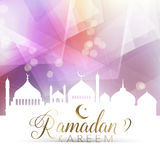 Low poly Ramadan poster Royalty Free Stock Image