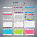 Low Poly Rectangle Banners Set Royalty Free Stock Images