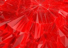 Low Poly Red Reflective Background Royalty Free Stock Photography