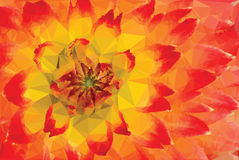 Low-poly Red and Yellow Background Royalty Free Stock Images
