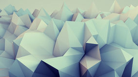 Low poly relief 3D render. Low poly relief. Abstract 3D render Royalty Free Stock Photography