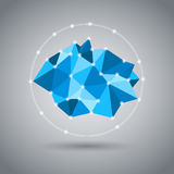 Low Poly Rock Orbit Icon Stock Photos