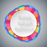Low Poly Round Thank You Banner Stock Images