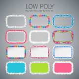 Low Poly Rounded Rectangle Banners Set Royalty Free Stock Photos