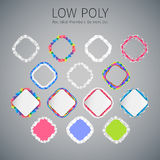 Low Poly Rounded Rhomboid Banners Set Royalty Free Stock Image