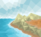 Low poly seascape Stock Image