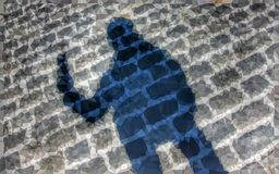 Low poly shadow on the ground Royalty Free Stock Images