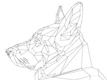 Low poly shepherd snout. Vector low poly style  shepherd snout realistic Royalty Free Stock Photos