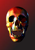 Low poly skull laugh on red BG Royalty Free Stock Image