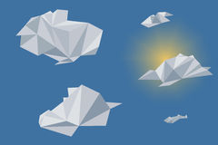 Low poly sky and clouds Royalty Free Stock Photography