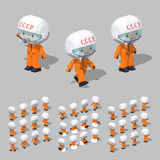 Low poly soviet cosmonaut Royalty Free Stock Image