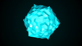 Low poly sphere. Abstract 3d render background Royalty Free Stock Photos