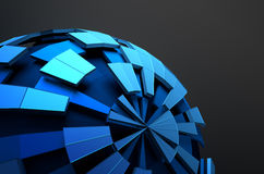 Low Poly Sphere with Chaotic Structure Royalty Free Stock Image