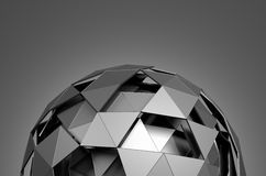 Low Poly Sphere with Chaotic Structure Royalty Free Stock Images