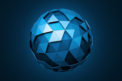 Low Poly Sphere with Chaotic Structure Royalty Free Stock Photo