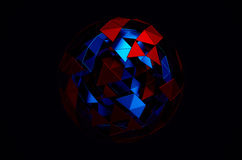 Low Poly Sphere with Chaotic Structure Stock Image