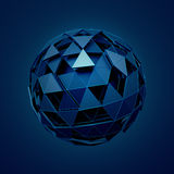 Low Poly Sphere with Chaotic Structure Royalty Free Stock Photography