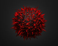 Low Poly Sphere with Chaotic Structure. Stock Photo