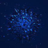 Low Poly Sphere with Chaotic Structure. Stock Images
