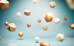 Low poly spheres Royalty Free Stock Image