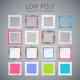 Low Poly Square Banners Set Royalty Free Stock Photo
