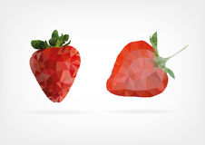 Low Poly Strawberry fruit Royalty Free Stock Photo