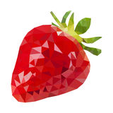 Low Poly Strawberry Royalty Free Stock Images