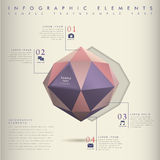 Low poly style abstract infographics Royalty Free Stock Photos