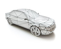 Low-poly style car Royalty Free Stock Photography