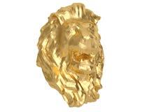 Low poly style golden lion head. 3D illustration. Low poly style golden lion head. 3D illustration vector illustration