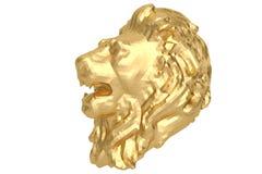 Low poly style golden lion head. 3D illustration. Low poly style golden lion head. 3D illustration stock illustration