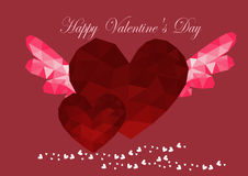 Low poly style heart  vector, heart  low poly design,low poly style illustration,low poly background vector, valentines day Royalty Free Stock Photos
