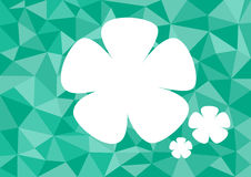 Low poly style vector, green low poly design, low poly style illustration, Abstract low poly background vector, flower.  stock illustration
