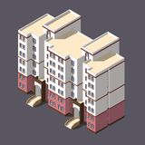 Low poly town apartment building royalty free stock photos