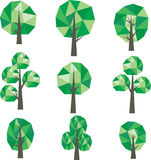 Low poly trees Clip Art Stock Photo