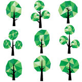 Low poly trees Clip Art Stock Image