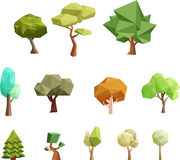 Low poly trees for games Royalty Free Stock Photo