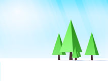 Low poly trees Royalty Free Stock Image