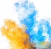 Low poly triangular background vector illustration