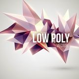 Low poly triangular background. Design element Royalty Free Stock Images