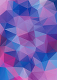 Low Poly triangular background. Stock Photo